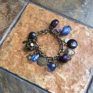Purple Vintage Charm Bracelet